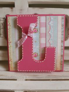 LARGE WALL LETTER Plaque Monogram Initials Custom Name Wall Letters Personalized Shabby Chic New Baby Girl Shower on Etsy, $18.00