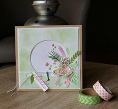 Carte pour les Kits de Kali avec papiers et fleur en résine de sa boutique - dies et tampons 4enScrap