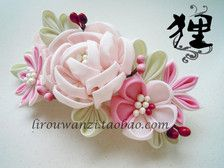 Wind kimono hair accessories hairpin large rose bushes