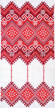 Gestickte gut mit Kreuzstich-Muster. ukrainische ethnische verzierung photo