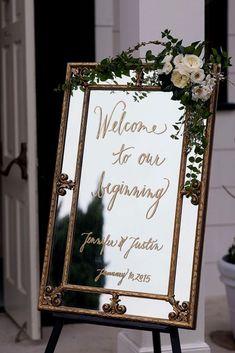 Fabulous Mirror Wedding Ideas ❤ See more: http://www.weddingforward.com/mirror-wedding-ideas/ #weddings #weddingplanningonabudget #weddinghacks #weddingideas