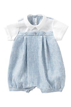 Italian Luxury Short babygrow | Il Gufo USA -cute and classic baby boy clothes