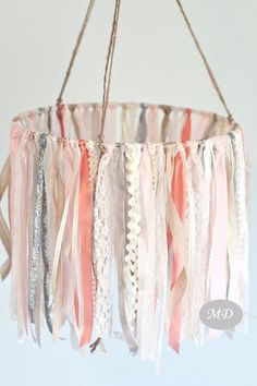 Ribbon Mobile Baby Ribbon & Lace Mobile pink and ivory baby mobile baby girl mobile hanging decor crib mobile nursery Little Girls Room Baby Crib Decor Girl Hanging Ivory lace Mobile Nursery pink ribbon Cool Baby, Baby Love, Fantastic Baby, Little Girl Beds, Little Girls, Girl Nursery, Nursery Decor, Baby Nursery Ideas For Girl, Baby Nursery Diy