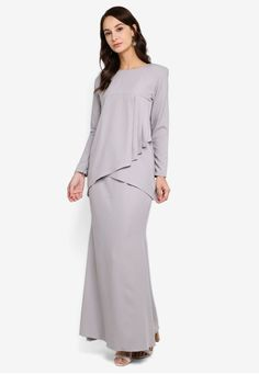 Audrey Modern Pleated Kurung with Mermaid Maxi Skirt from Fazboka in Grey Audrey Modern Pleated Kurung with Mermaid Maxi Skirt from Fazboka in Grey Top- Solid shade pleated detail kurung top with asymmetrical hem- Round neck. Fit Back, Grey Top, Mermaid, Blouses, Detail, Check, Modern, Skirts, Tops