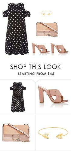"""""""TOPOS + NUDE"""" by cazatendencia on Polyvore featuring moda, Dorothy Perkins, Gianvito Rossi, Chloé y Lord & Taylor"""