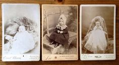 Antique Vintage Sepia Baby Portrait Cabinet Cards Pictures set of 3, from late 1800's Early American Black and white photography studio by Piklandia on Etsy