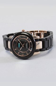 La Mer The Indo Lucite Watch in Black and Rose Gold : Karmaloop.com - Global Concrete Culture