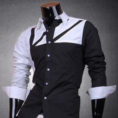 3mu Mens Designer Stylish Dress Casual Shirts Top Fashion