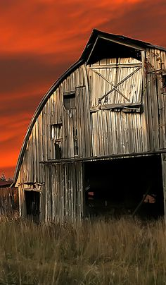 Sunset Sky & Barn