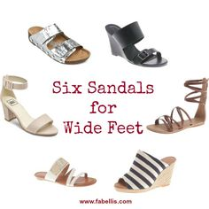 Six Sandals for Wide Feet