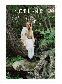 Celine Resort 2017 Campaign by Talia Chetrit Fashion Advertising, Advertising Campaign, Celine Campaign, Nature Editorial, Editorial Fashion, Talia, Countryside Fashion, Forest Fashion, Logos Retro
