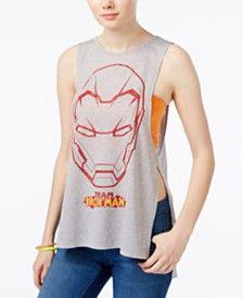 Freeze 24-7 Juniors' Iron Man Side-Slit Graphic Tank