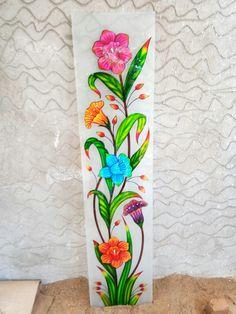 Front Door Design Wood, Glass Front Door, Glass Painting Designs, Paint Designs, Simple Wall Paintings, Window Glass Design, Office Wall Graphics, Bedroom False Ceiling Design, Diy Flowers