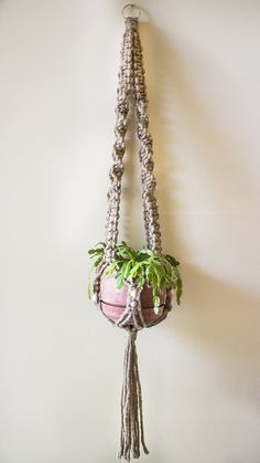 Macrame Plant Hanger- Spiral