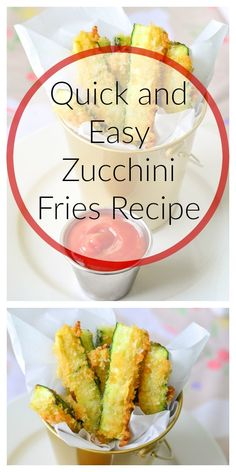 Healthy Recipes : Quick and Easy Zucchini Fries Recipe - Healthy Healthy Side Dishes, Healthy Eating Recipes, Healthy Snacks For Kids, Veggie Dishes, Baby Food Recipes, New Recipes, Healthy Food, Toddler Recipes, Toddler Food