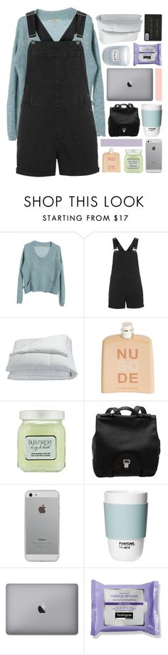 """""""waves don't die baby."""" by annamari-a ❤ liked on Polyvore featuring Topshop, Frette, COSTUME NATIONAL, Laura Mercier, Proenza Schouler, Luvvitt, ROOM COPENHAGEN, Fresh, women's clothing and women"""