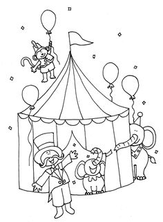 Karneval Kindergarten Coloring Pages Circus Elephant Coloring Page, Animal Coloring Pages, Coloring Pages To Print, Free Printable Coloring Pages, Colouring Pages, Coloring Pages For Kids, Coloring Sheets, Coloring Books, Circus Theme Crafts