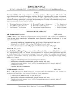 Executive Chef Resume Template Executive Chef Job Description  For Chef Employers  Pinterest
