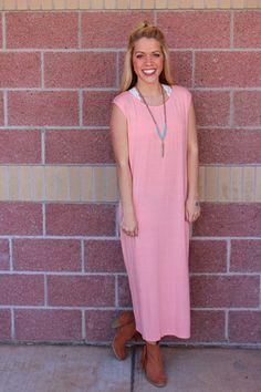 Knit side slit midi dress-more colors