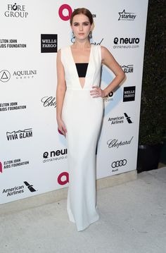 Zoey Deutch attends the 23rd Annual Elton John AIDS Foundation's Oscar Viewing Party on February 22, 2015