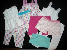 Doll clothes (American Girl) made from dollar store underwear. : Doll clothes (American Girl) made from dollar store underwear. Sewing Doll Clothes, Sewing Dolls, Girl Doll Clothes, Barbie Clothes, Ag Dolls, Girl Dolls, Doll Sewing Patterns, Doll Clothes Patterns, Clothing Patterns