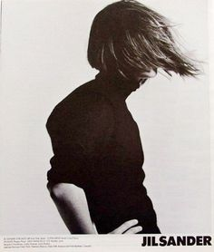 As an ode to more inspiring windy moments, I pulled out some old Jil Sander ads for today's Throw Back Thursday. Jil Sander ads never cease to inspire.
