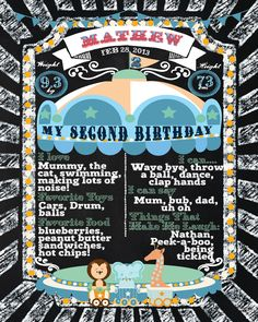 The First #birthdaychalkboard Poster Sign Printable-digital-babys first birthday-Plus FREE web FILE -Boy -#vintage #circus #carnival #circusparty by Ladyfromsundesigns on Etsy