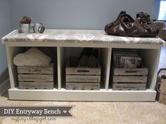 DIY Entryway Bench