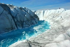 Meltwater River: A meltwater river on the surface of the ice sheet near Leverett Glacier. (Antarctica)