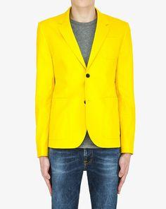 Marc by Marc Jacobs Lemon Yellow Harvey Twill Blazer