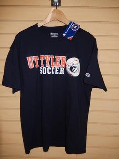 University of Texas Tyler Soccer T-shirt Champion New with Tags Large Patriots #Champion #UniversityofTexasatTyler