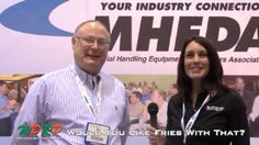 "#MaterialHandling Mike Vaughan from Liftech Equipment Companies Inc Shares About MHEDA and MHEDA-NET via our video mini-series ""Would You Like Fries with That"" featuring Joshua Smith and Linda Anlauf. At WPRP Our Goal is to Help You, and in this video Linda and Mike will discuss the benefits of being part of the MHEDA-NET group! http://www.wprpwholesalepalletrack.com"