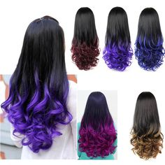 5 Colors 28'' 280g Women's 3/4 Full Head Long Wavy Wig, Cheap Curly Ombre Wavy Synthetic Half Wig, Heat Resistant Synthetic Wigs-in Synthetic Wigs from Health & Beauty on Aliexpress.com | Alibaba Group