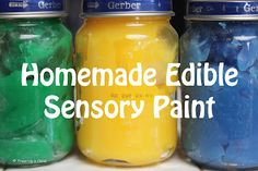 Edible Sensory Paint - Safe for babies and toddlers and fun for all ages.