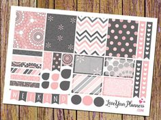 Pink and Grey Planner Stickers Weekly Planner Stickers Weekend Banner Heart Checklist Vertical Planner Chevron Polka Dots Stripes 164 by LoveYourPlanners on Etsy https://www.etsy.com/listing/265041660/pink-and-grey-planner-stickers-weekly