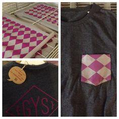 ..een nieuwe batch shirts en stof voor de briljante pockettees van @gysutrecht ! #salvage #continentalclothing