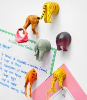 Safari Animal Butt Magnets= these would be so easy to make