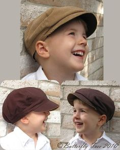 Newsboy Hat Sewing Pattern Reversible Unisex Infant and  bc2da713259