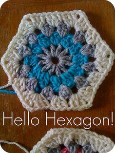 :: Hello Hexagon! How to Crochet A Hexagon...
