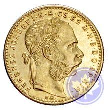 monnaie d'or hongroise 20 frs-8 fl