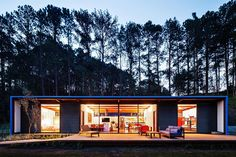 Modular wooden holiday retreat with metallic cladding in Brazil