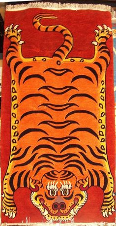 Quintessential Tiger Carpet, 3'x6'