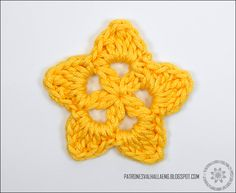 PATRONES VALHALLA // Free Crochet Patterns: CROCHET PATTERN: STAR II (APPLIQUE)