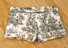 DIY Jeans : DIY Printed Victorian Shorts