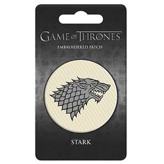 Game of Thrones House of Stark Embroidered Patch - Dark Horse - Game of Thrones - Patches at Entertainment Earth