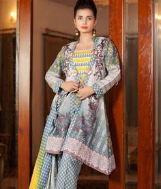 Pakistani Lawn and Chiffon Dresses 2019 are Available on Market Price. Lehenga, Saree, Desi Wear, Pakistani Designers, Chiffon Dress, Shawl, Printed Dresses, Textiles, Bargello