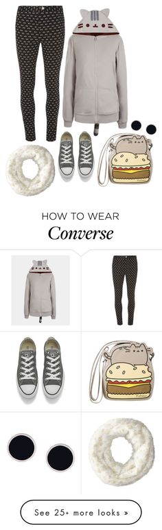 """""""Pusheen"""" by perpetto on Polyvore featuring Pusheen, Dorothy Perkins, Converse, Betsey Johnson, AMBUSH, contestentry and PVxPusheen"""