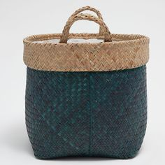 Image 2 of the product Large blue basket with handles