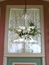 Crystal Chandelier Recycle Your Wedding, Wedding Decorations, Wedding Ideas, Marry Me, Reception, Chandelier, Wedding Lighting, Wreaths, Weddings