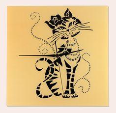 Kézzel festett üvegóra - Luna, a hercegnői cicalány Magic, Glass, Cards, Drinkware, Corning Glass, Maps, Playing Cards, Yuri, Tumbler
